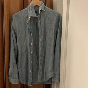 J crew chambray shirt denim size 4